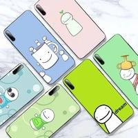 dream smp smile phone case for samsung galaxy j6 j7 j8 note 9 10 20 lite plus pro black soft nax fundas cover