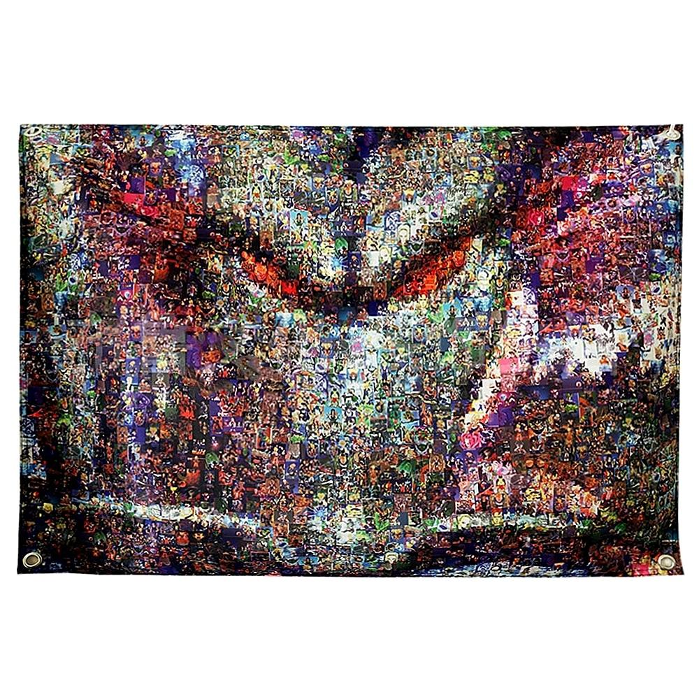 Dragon ball desenhos animados anime filme bandeira adesivos de parede tapeçaria parede pendurado ilustração impresso decoração da parede