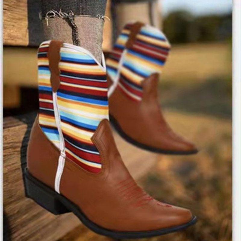 2021 الخريف والشتاء المرأة موضة Pu الربط وأشار الأوسط أنبوب الأحذية أحذية أنيقة غير رسمية مريحة وساخنة KP217