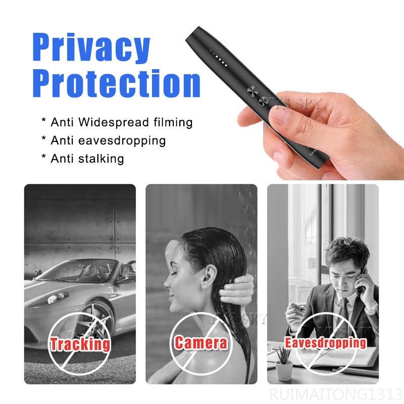 Anti Spy Camera Detector Pen Wireless RF Signal Eavesdropping Pinhole Hidden Cam Audio Bug GSM GPS Wiretapping Device Scanner enlarge