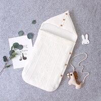 Детские спальные мешки, конверты для 0-6 м, осенне-зимние плотные спальные мешки для младенцев, кокон для детской инвалидной коляски из однот...