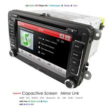 "Ossuret 7"" 2 din Car DVD GPS radio stereo player for Volkswagen VW golf 6 passat b6 B7 Touran polo Tiguan seat leon skoda octavi"