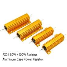 50W 100W di Potenza In Alluminio Metallo Borsette Caso Filo Avvolto Resistenza di 0.01 ~ 100K 0.05 0.1 0.5 1 2 6 8 10 20 200 500 1K 10K ohm resistenza