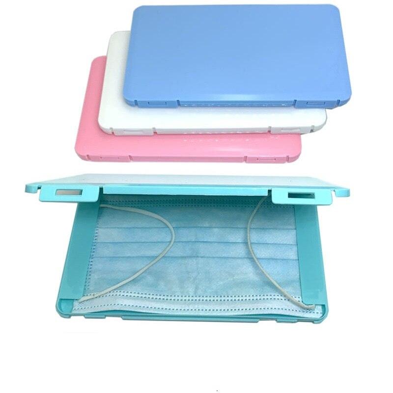 Caja de almacenamiento de máscara PP, caja de máscara portátil a prueba de polvo a prueba de humedad para niños, caja de máscara para estudiantes disponible en varios colores