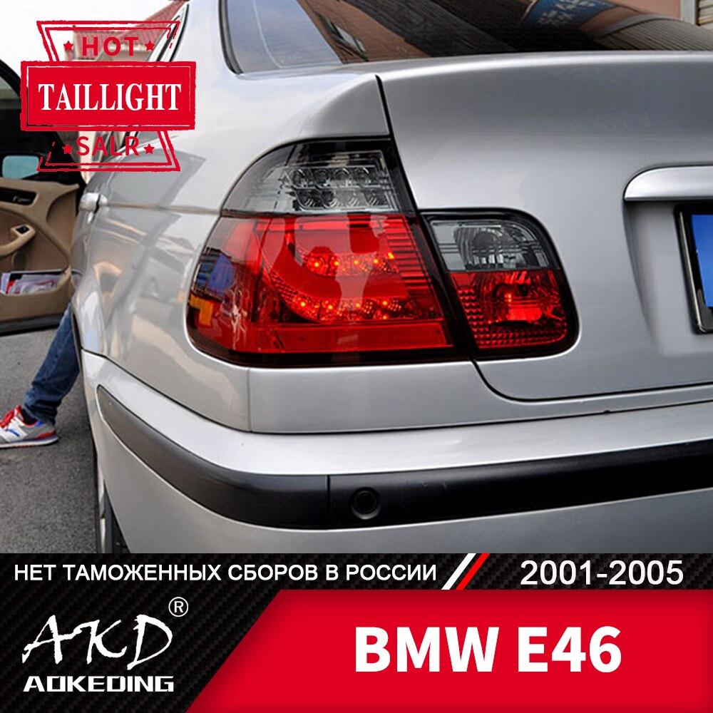 Faro trasero para coche BMW E46 2001-2005 316i 318i 320i 325i, luces antiniebla traseras LED, luz diurna para correr, accesorios para coches Tuning DRL