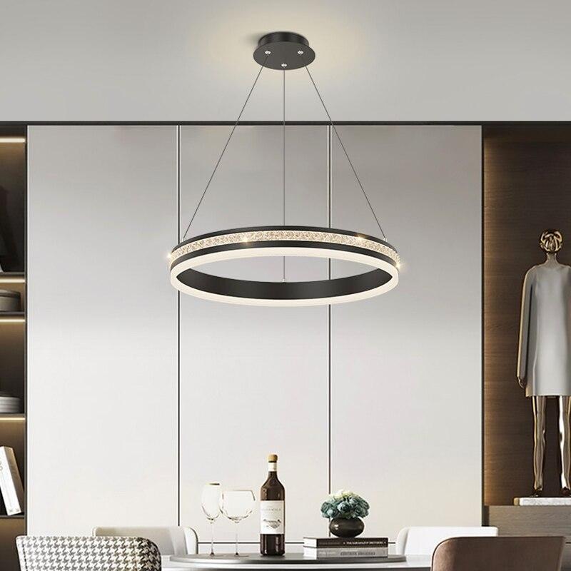 الحديث الأسود غرفة الطعام غرفة نوم قلادة أضواء داخلي مصباح لإنارة السقف معلقة تركيب المصابيح الإنارة الزخرفية