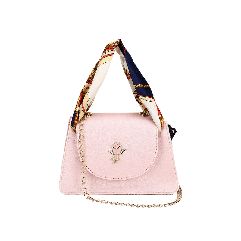 Women Luxury Ribbon Handbags Lady Fashion Rose Shoulder Bags Travel Chains Crossbody For Women Sac A Main Messenger Bag SS3590