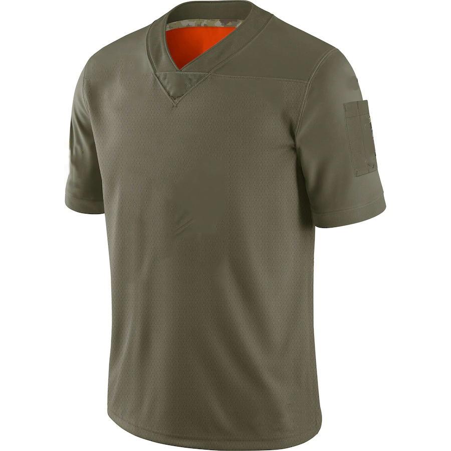 Мужская футболка с номером и именем стежка для американского футбола, зеленые футболки для фанатов 2019 года по индивидуальному заказу
