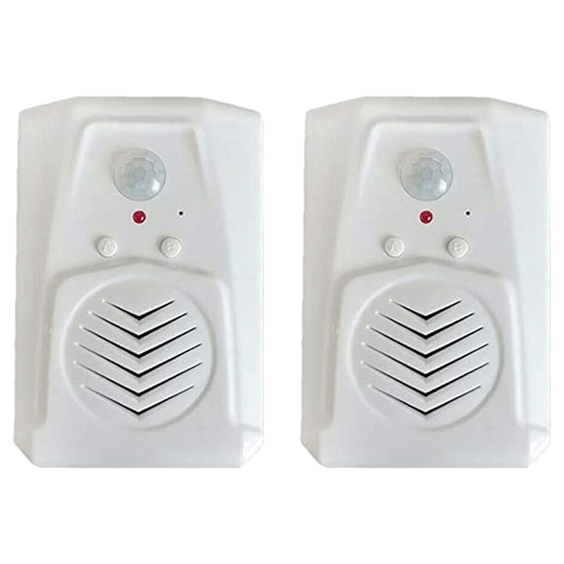 2 uds Sensor de movimiento timbre de la puerta interruptor infrarrojo timbre de la puerta Sensor de Movimiento PIR inalámbrico de voz Recepción de alarma de entrada