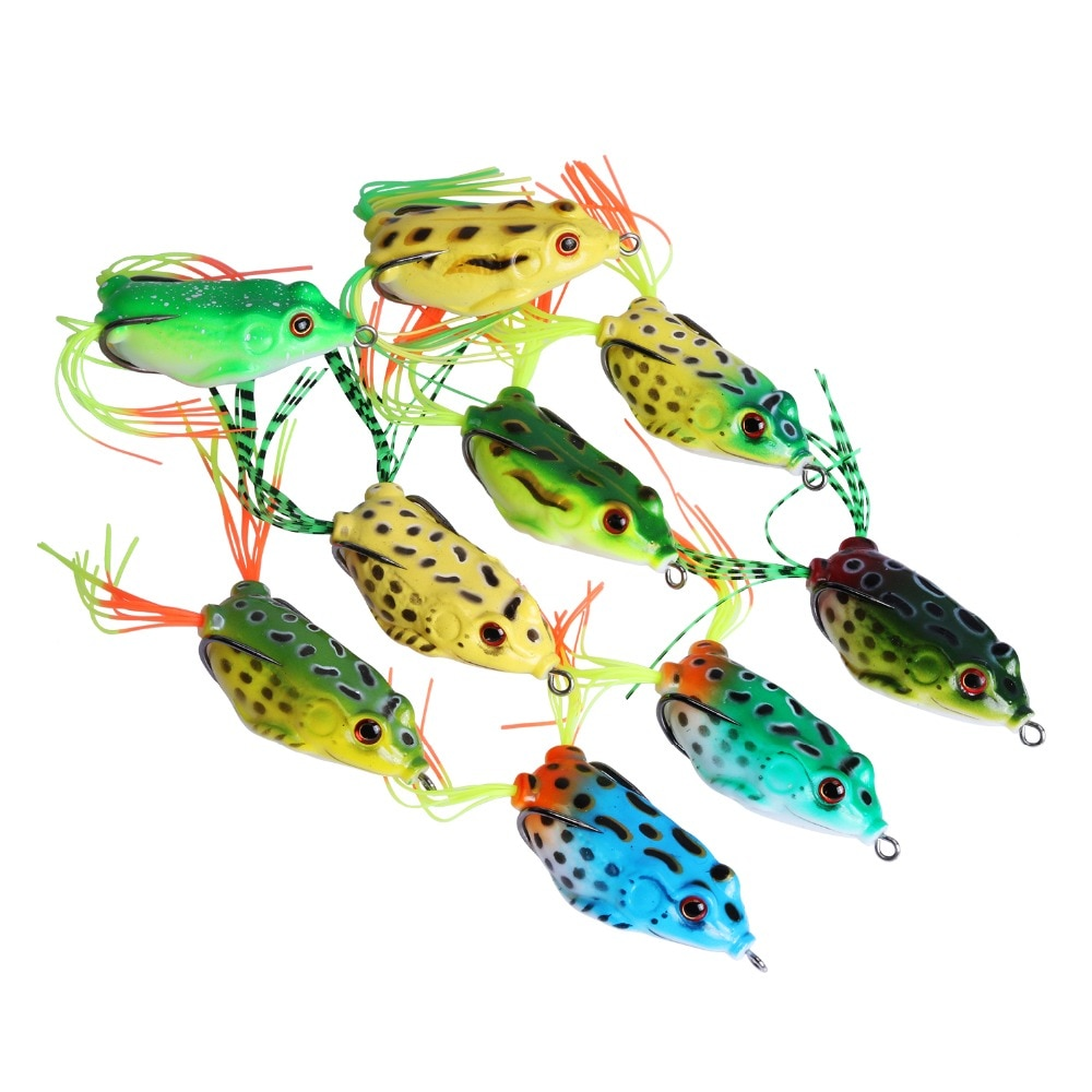 Goture Frog Fishing Lure 5.5cm 12.5g Soft Silicone Bait Crankbaits Fishing Lures Carp Fishing Wobblers Artificial Bait Frog Lure