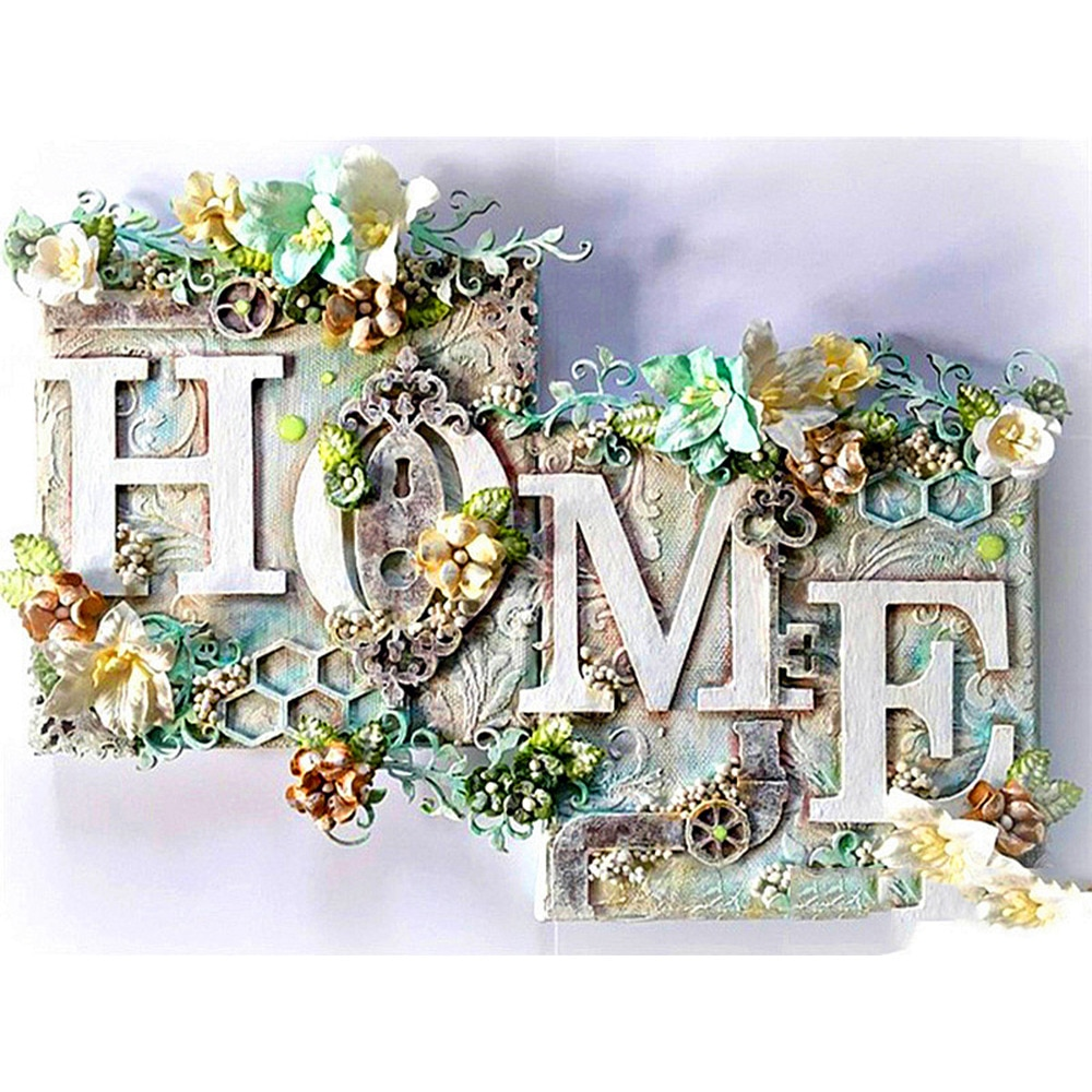 Square/Round 5D Diamond Painting HOME Full Flower Diamond Embroidery Landscape wall Decoration Diamond Art