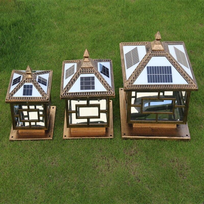 Solar Light Fence Post Cap Lights For Garden Decoration Outdoor Waterproof Landscape Courtyard Post Pillar Lamps LED Solar Lamp enlarge