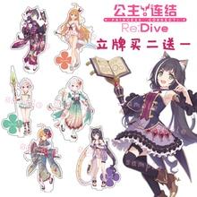 Anime princesse connecter! Re: piqué kokoro Eustiana von Astraea Kyaru Cosplay Lolita acrylique support Figure modèle bureau décor jouet cadeau