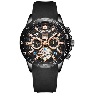 Fashion Watches For Men's Automatic Mechanical Watches Trendy Waterproof Cool-Looking 2021 New European And The United States enlarge