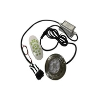 24w stainless steel led underwater rgb light with remote control 12v marine boat yacht water drain light