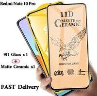 new 9d matte ceramic screen protector for redmi note 10 pro mate glass xiaomi redmi note 10 pro max tempered glass note10 pro