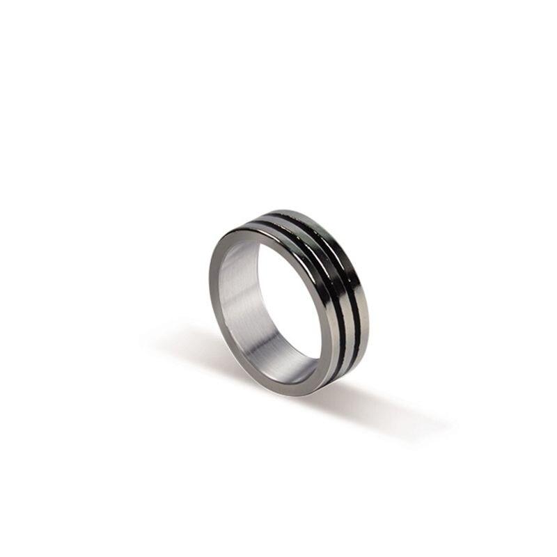 Negro dos círculo Pk anillo trucos de magia fuerte anillo magnético moneda dedo