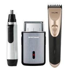 2021 Electric Hair Clipper Men Beard Trimmer Reciprocating Shaver Low Noise Razor Ear Nose Hair Trim