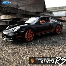 Welly 124 Porsche GT3 RS 997 alliage voiture modèle Diecasts jouet véhicules recueillir des cadeaux Non-télécommande type transport jouet