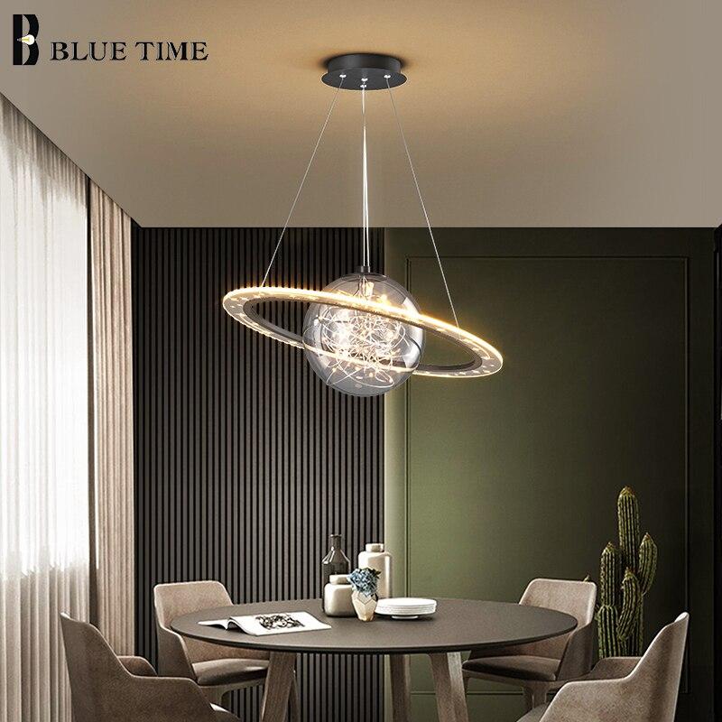 الحديثة داخلي الإبداعية LED الثريات لغرفة المعيشة غرفة نوم غرفة الطعام ضوء مطبخ الثريا مصابيح تركيبات الإضاءة المنزلية