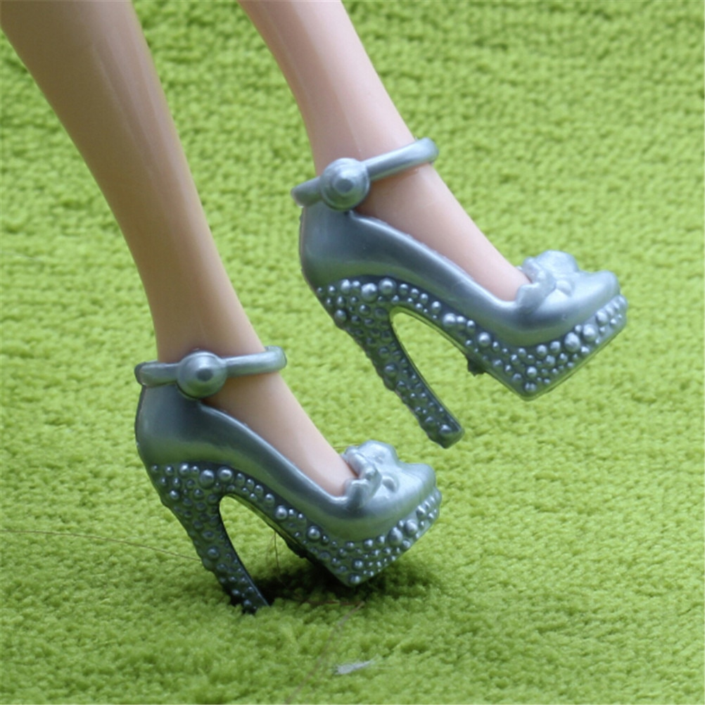 Fashion For  Doll Shoes Party Dress Doll Shoes For  Dolls Accessories Play House Party Girls Gift 2