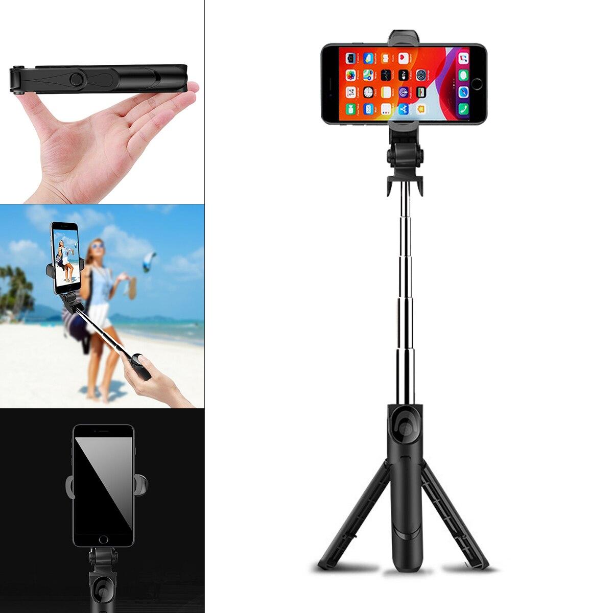 Holde com Controle Remoto para Maquiagem Fotografia ao Vivo Telefone Móvel Selfie Vara Bluetooth Smartphone Tripé Vídeo Xt09