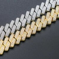 iced out cuban link chain 14mm hip hop men jewelry choker gold silver color cz for rapper charms necklaces gifts