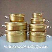 30g 50g 60g 80g 100g 150g Aluminium Potten Lege Cosmetische Crème Flessen Make Lotion containers Zwart Roze Zilver Wit Goud Groen