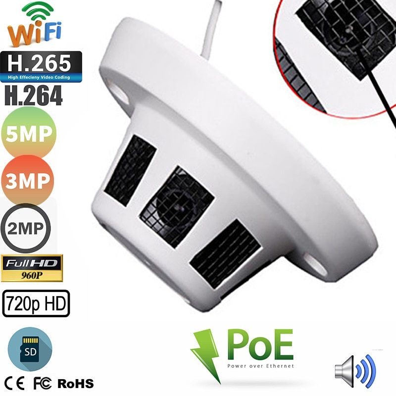 Mini cámara IP domo de 5MP, 4MP, 3MP, 1080P, Audio POE, Wifi,...
