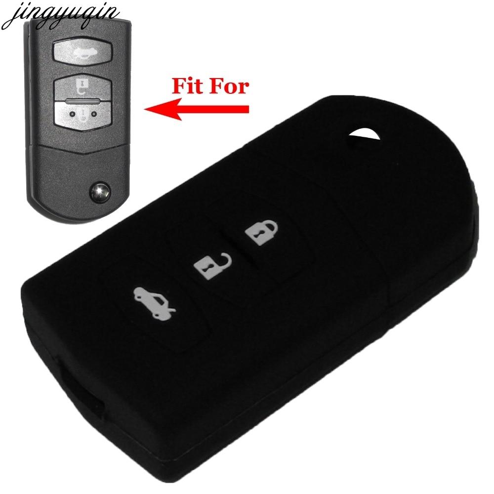 Remote 3 Buttons Flip Folding Car Key Case Cover For Mazda 2 3 5 6 8 Atenza CX5 CX-7 CX-9 MX-5 RX Keyrings Holder Case