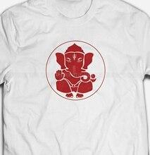 GANPATI GANESHA Retro Vintage Indian Elephant God 100% Cotton Mens T-shirts Tee