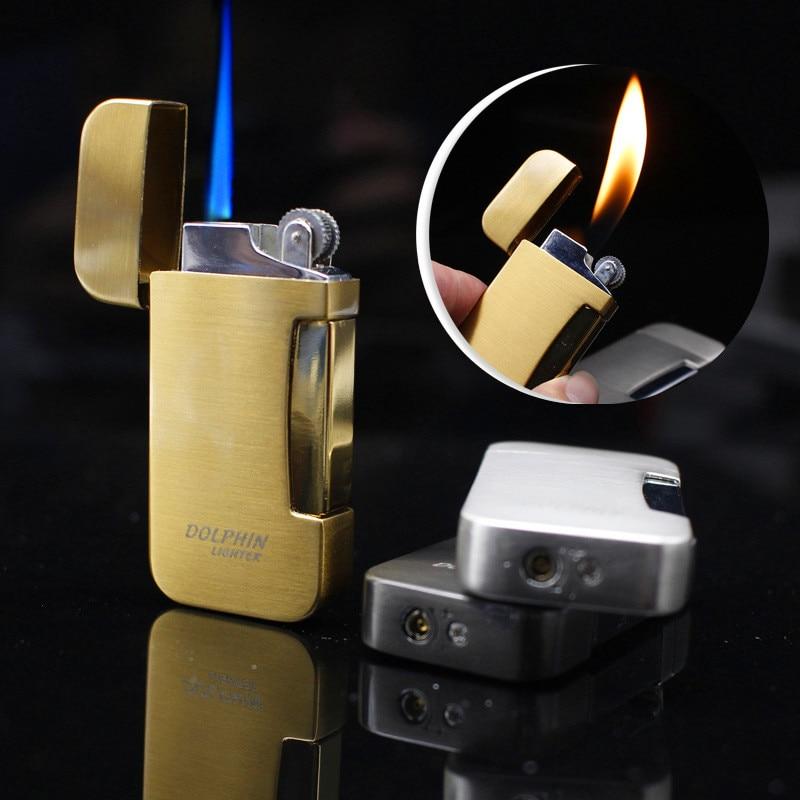 Mechero de antorcha de chorro de fuego gratis, mechero Turbo de Gas portátil de Metal, encendedores de cigarrillos de butano, accesorios para fumar