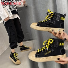 Fashion Sportswear Shoes 2021 Women's New High Top Canvas Shoes Outdoor Sports Walking Running Shoes