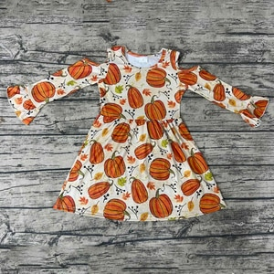 Thanksgiving day style long sleeve pumpkin strapless dress