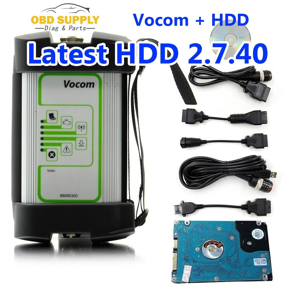 Herramienta de diagnóstico de camiones para VOLVO VOCOM 88890300 V2.7.40 Vocom camión escáner interfaz de alta resistencia para UD/MAC/Volvo 88890300 Vocom