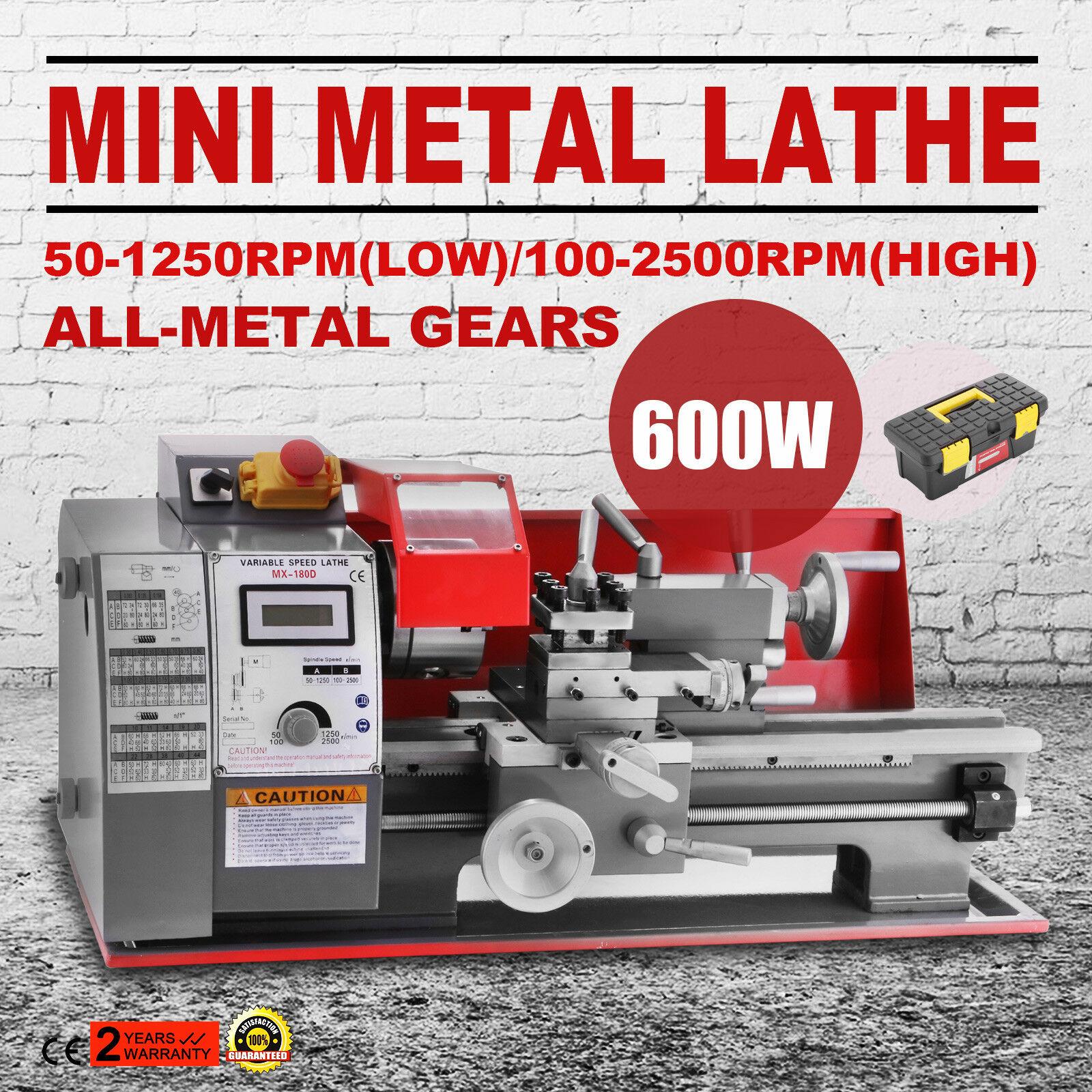 Máquina semi automática do torno do metal de 600 w mini máquina metalúrgica da elevada precisão