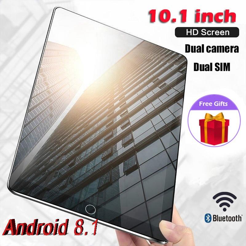 Планшеты (Бесплатная доставка) Игровые планшеты Pad 4G-LTE Android 9,0 Bluetooth PC 4 + 64 Гб Dual SIM Dengan GPS 10,1 дюймов