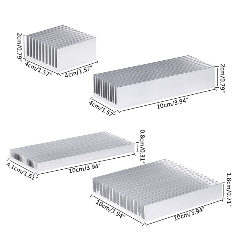Extruido disipador de calor de aluminio para LED de alta potencia IC Chip refrigerador disipador de calor del radiador Y51A