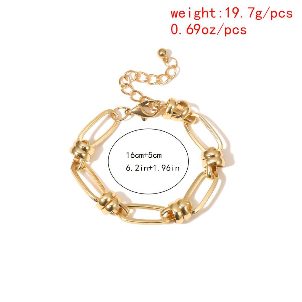 Купить с кэшбэком Hot Sale Punk Lock Chain Bracelet Bangle Women Men Armband Charm Rock Twisted Metal Chunky Link Bracelets Couple Jewelry