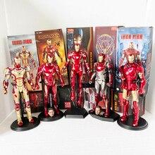 Jouets fous figurine homme de fer figurines daction MK50 Tony Stark Mark50 Iron Man mk47 MK42 MK7 MK46 MK45 jouet cadeau pour noël