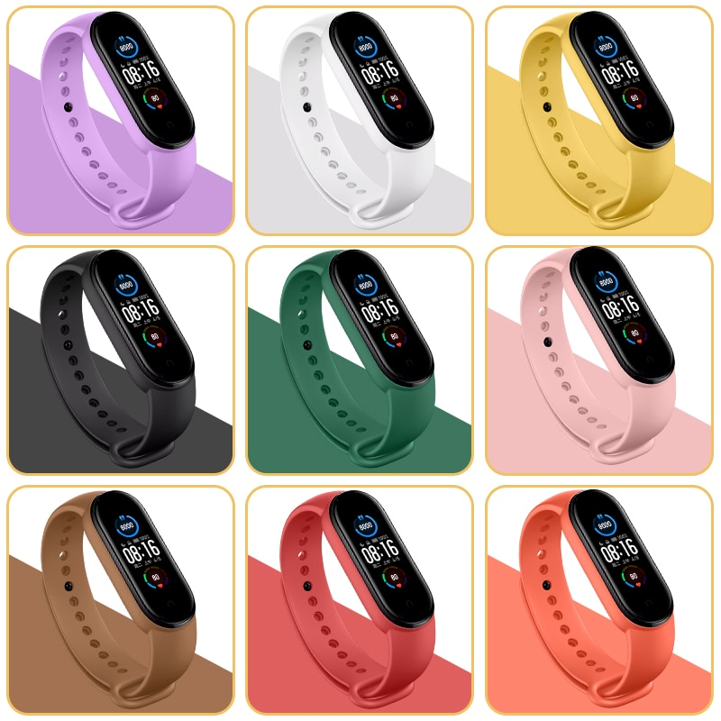 AliExpress - Bracelet For Mi band 4 5 6 Correa miband4 miband5 miband3 Replacement Silicone Smart watchband Bracelet Xiaomi mi band 4 3 Strap
