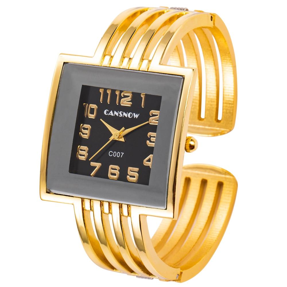 Relojes de cuarzo de oro para mujer, relojes de pulsera, relojes de pulsera únicos elegantes a la moda para mujer, relojes de vestir de marca de lujo, zegarek damski