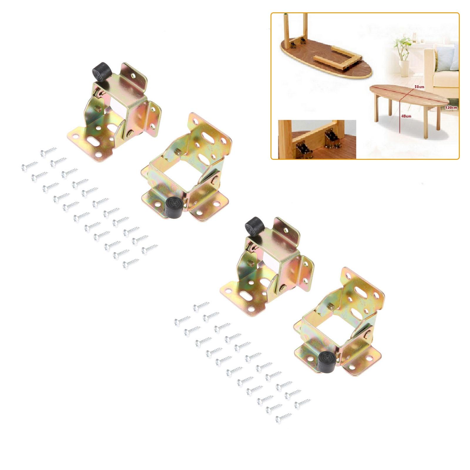4 قطعة الأثاث المفصلي الحديد طاولة قابلة للطي الساق بين قوسين مكتب كرسي قدم تمديد الذاتي قفل مفصلات أثاث ل كراسي قابلة للطي