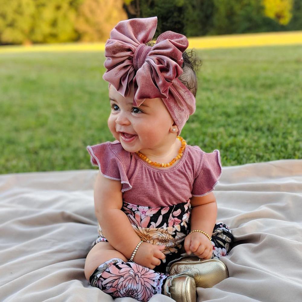 2020 novo veludo bagunçado arco bandana, mais de tamanho floppy arco bebê turbante headwrap bebê crianças acessórios de cabelo