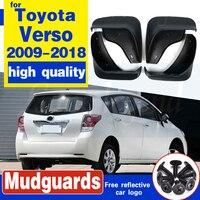 Set Car Mud Flaps For Toyota Verso 2009-2018 Mudflaps Splash Guards Mud Flap Mudguards Fender 2010 2011 2012 2013 2014 2015