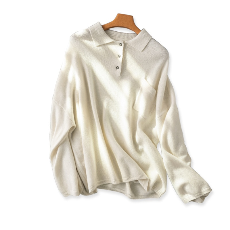 SHUCHAN Oversized Sweater Women 2021 New Autumn Winter Wool Pockets  Button Up Collar  Streetwear  Single Breasted enlarge