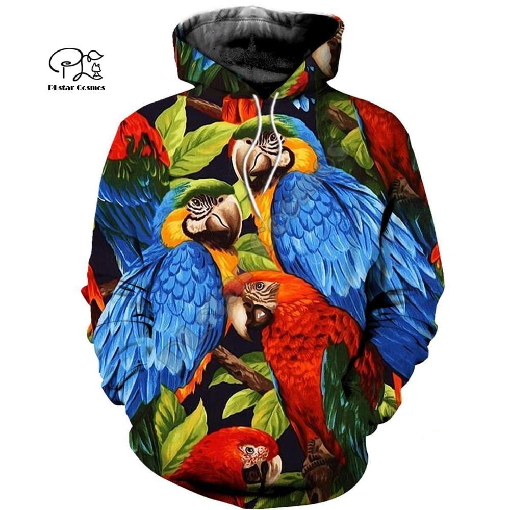 PLstar Cosmo loro arte Animal chándal 3DPrint Hoodie/sudadera/chaqueta/MenWomen Casual Harajuku camo estilo colorido-8