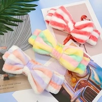 2021 new butterfly hairband coral velvet stripes polka dot face wash makeup hair wear hair accessories knotted headband