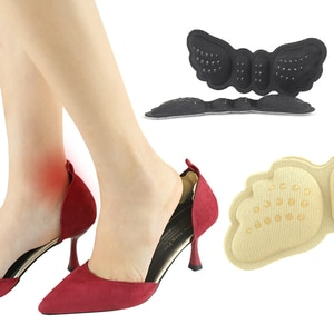 One Pair Heel Sticker Insoles Pain Relief Self-adhesive Heel Liner Grips High Heel Anti-wear Shoe Pad Insoles Rearfoot