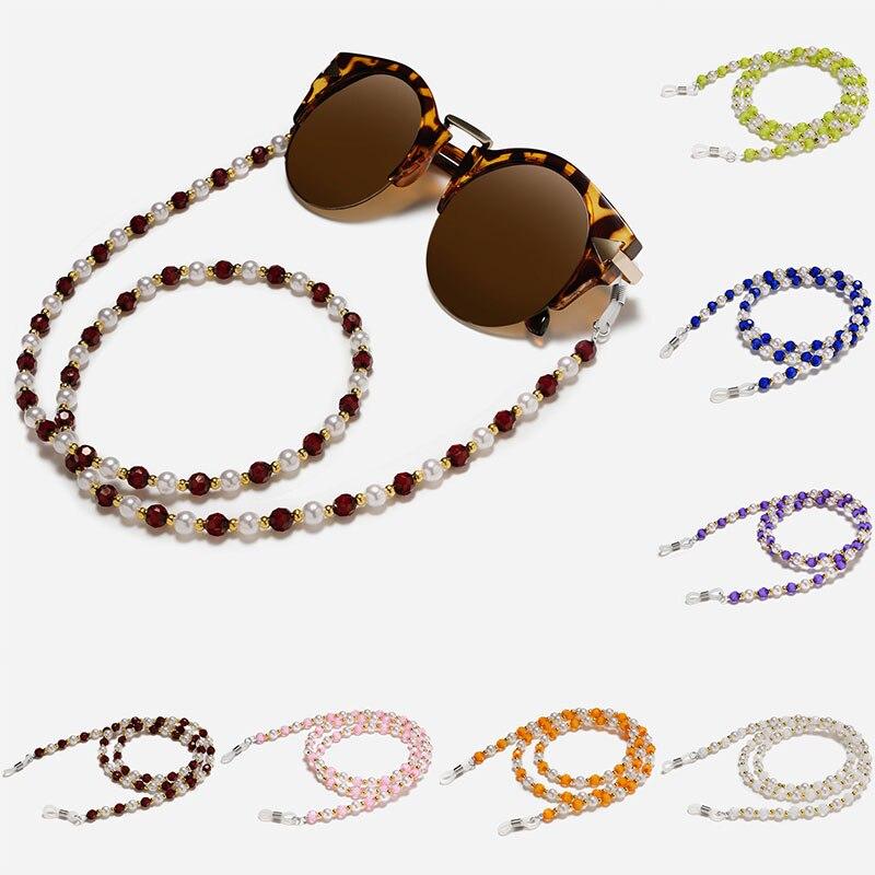 New Fashion Sun Glasses Chain Beaded Neck Lanyard Cord Sunglasses Chain Rope Eyeglass Holder 70cm Unisex Neck Strap Rope Eyewear